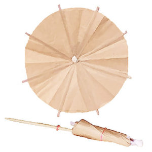 Tan Cocktail Umbrellas