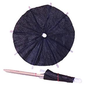 Black Cocktail Umbrellas