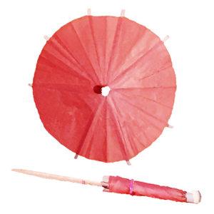 Blushing Pink Cocktail Umbrellas