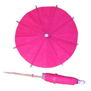 Neon Pink Cocktail Umbrellas