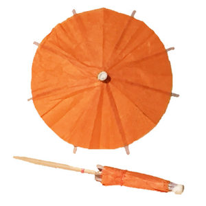 Pumpkin Orange Cocktail Umbrellas