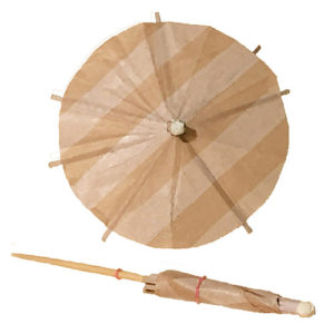 Beige & Tan Cocktail Umbrellas