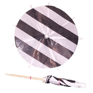 Black & White Cocktail Umbrellas