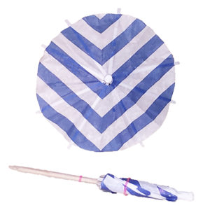 Striped Blue Cocktail Umbrellas