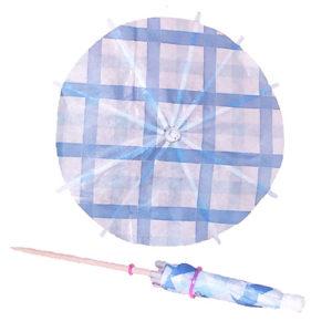 Blue Plaid Cocktail Umbrellas