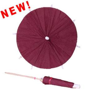 Burgundy Cocktail Umbrellas