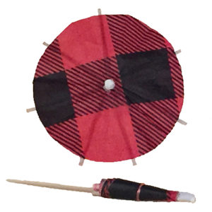 Plaid Cocktail Umbrellas