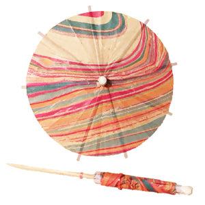 Marble Design Cocktail Umbrellas