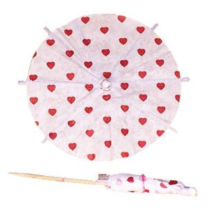 Valentine Hearts Cocktail Umbrellas