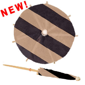 Black & Tan Stripe Cocktail Umbrellas